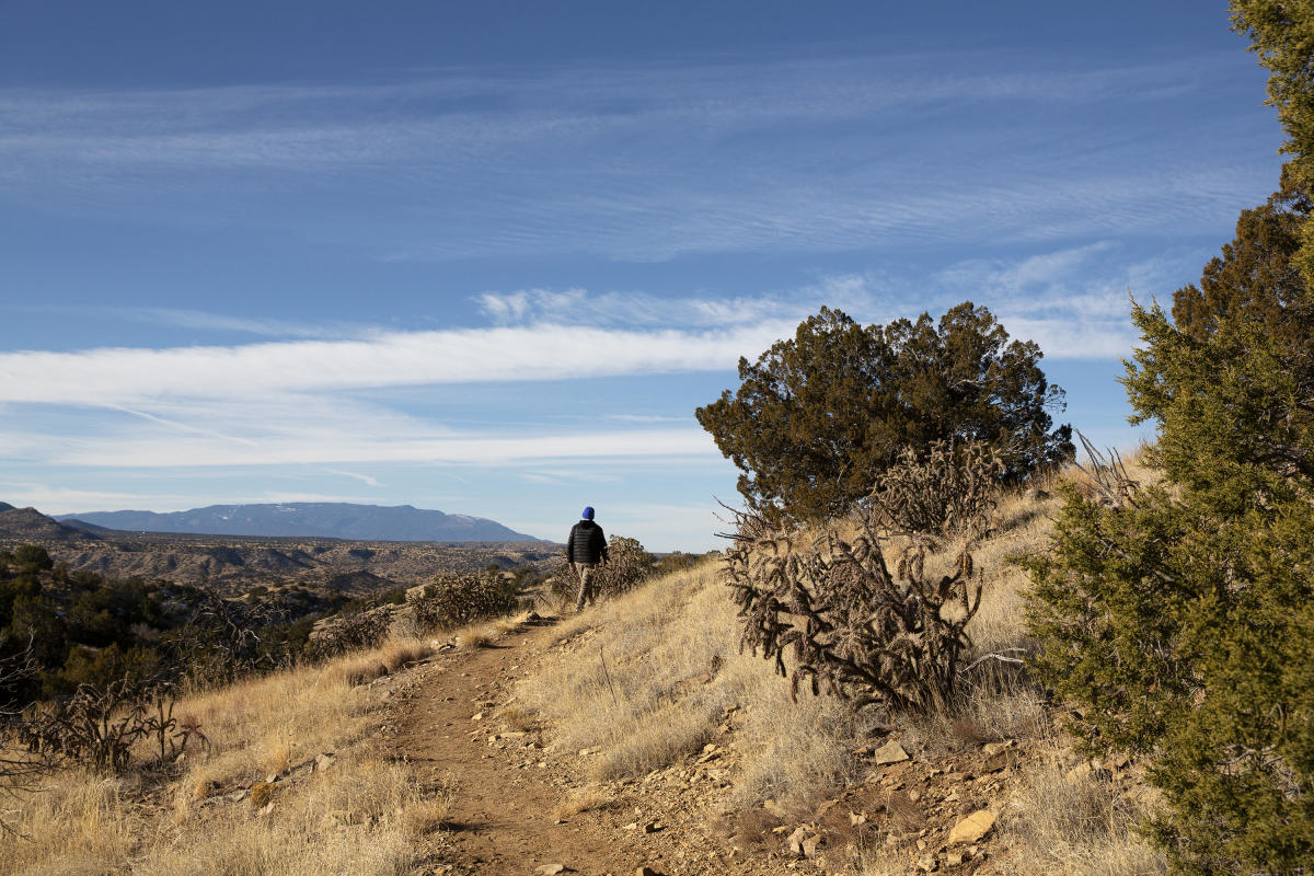 Hiking at Cerrillos Hills State Park