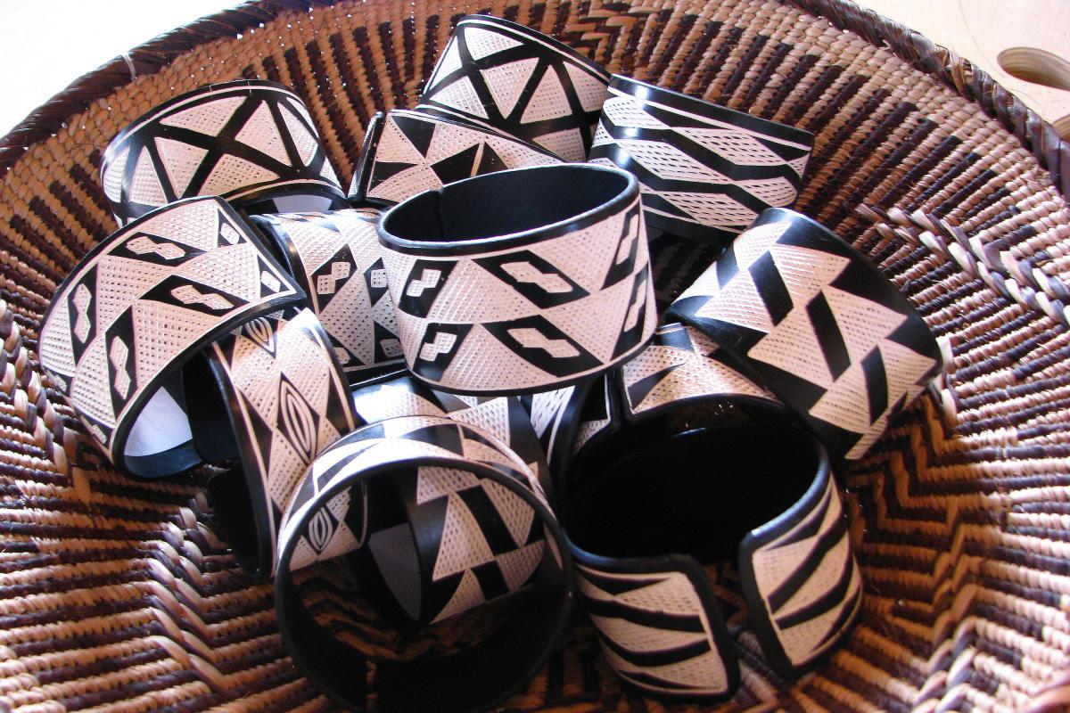 Bracelets from Namibia for the International Folk Art Market