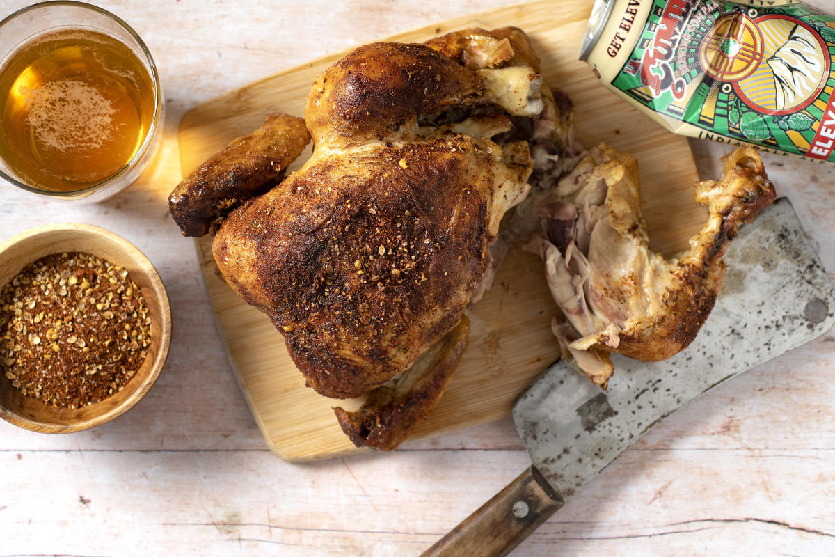 New Mexican Beer Can Grilled Chicken