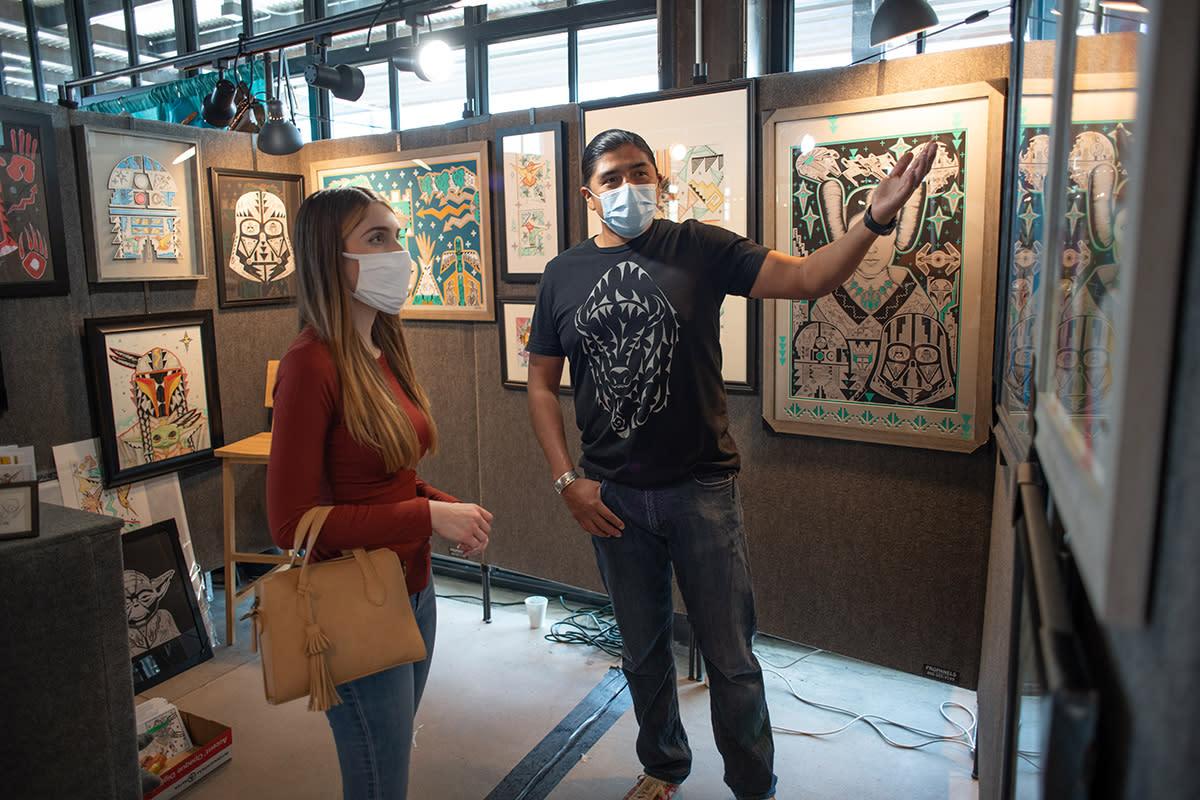 Artist Michael Toya Sawmill Market