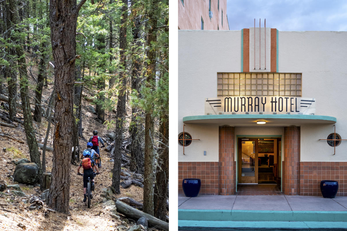 Biking outside Silver City and the Murray Hotel