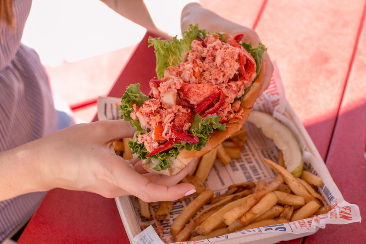 Lobster roll from Blount Clam Shack in Warren RI