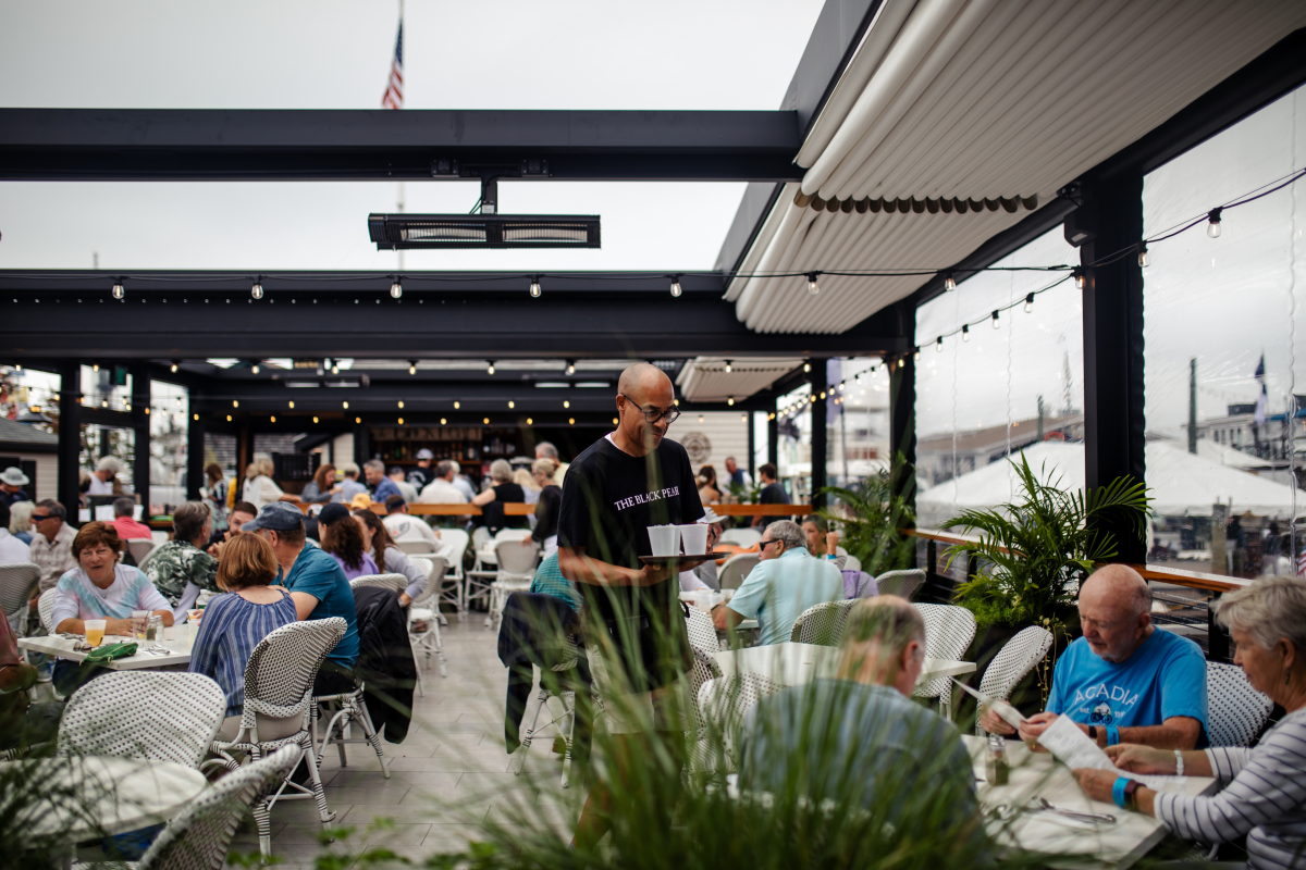 Black Pearl Outdoor Dining Downtown