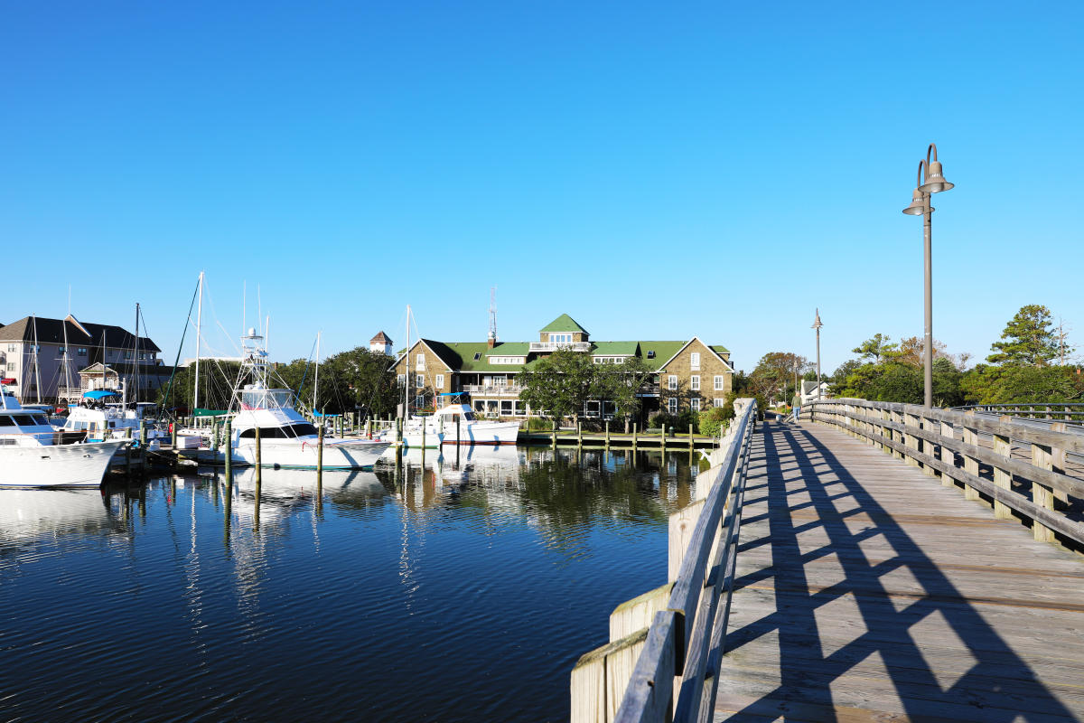 The marina in Manteo, NC