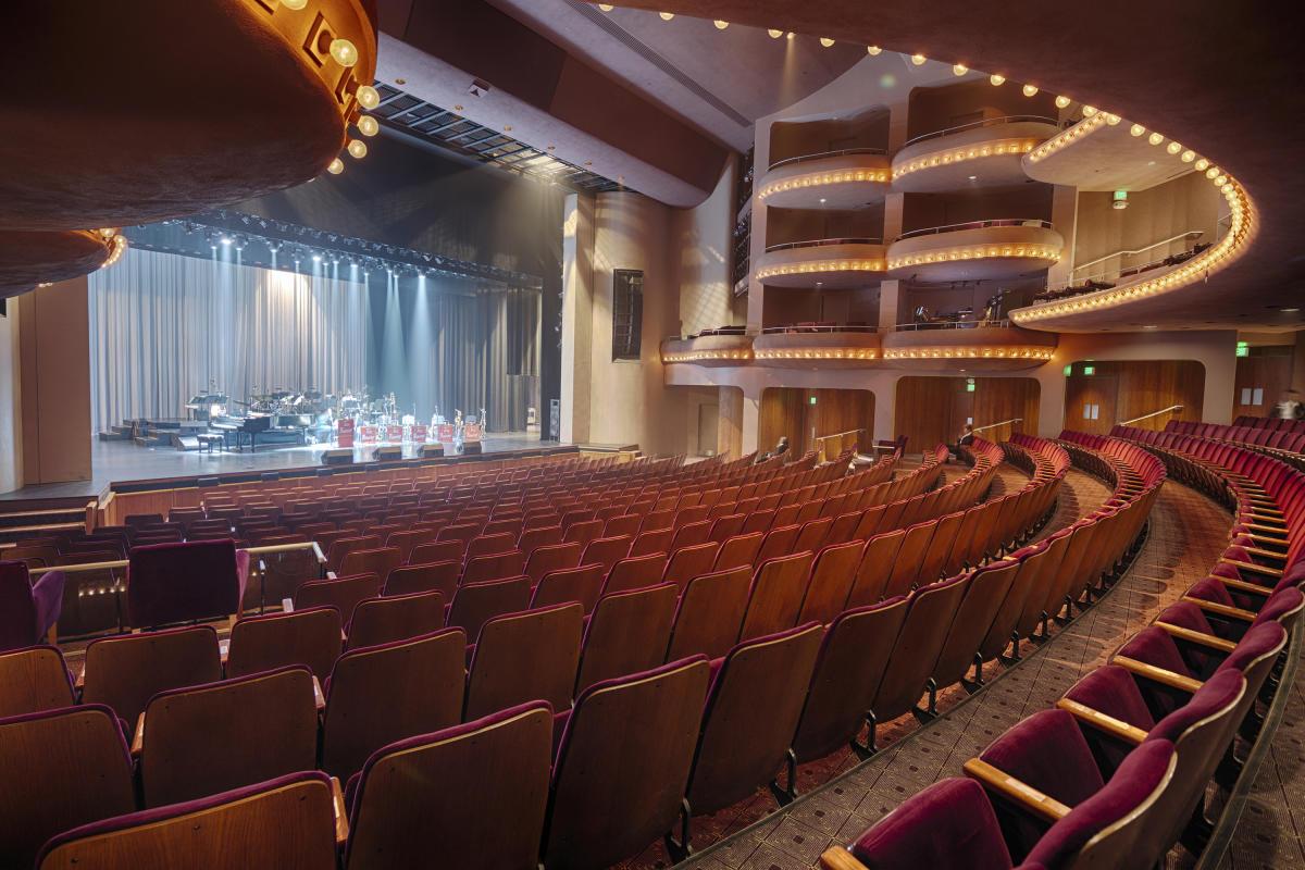 Interior of McCallum Theatre with no audience