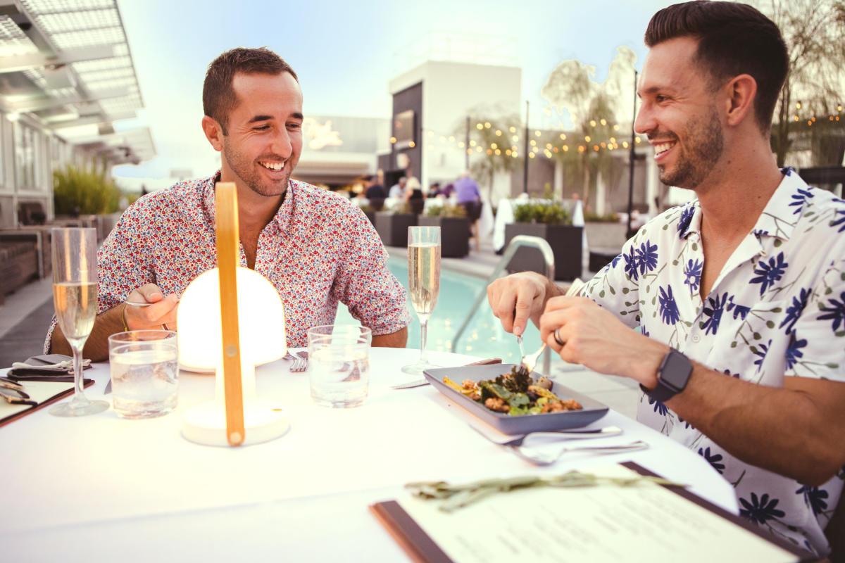Dining at the Kimpton Rowan pool side