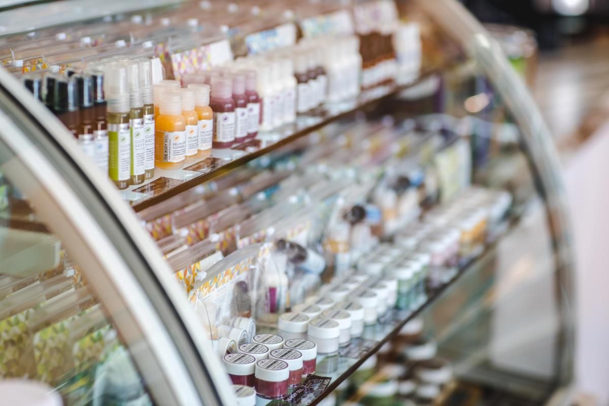 The Body Deli products in a fridge