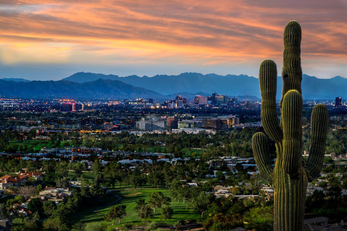 Scenic View of Phoenix Skyline