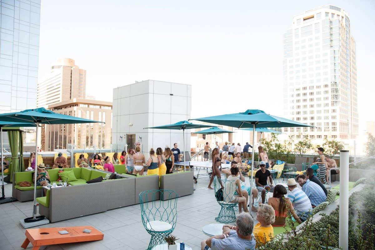 Lustre rooftop bar