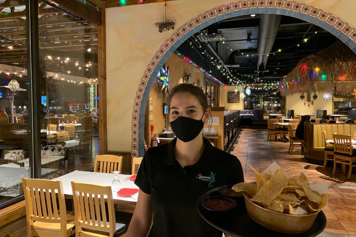 Iguana Wana Server With Mask