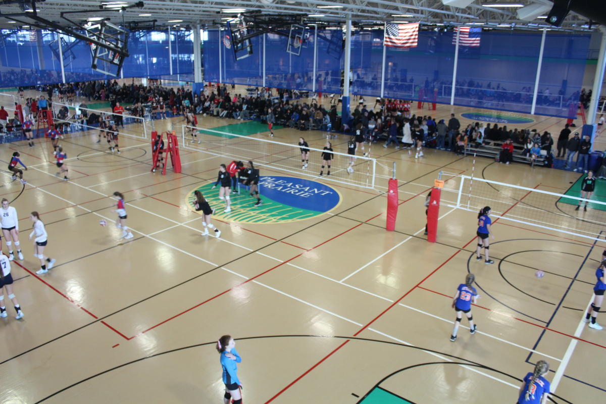 2020 Volleyball Juniors Tournament, View From the Upper Track