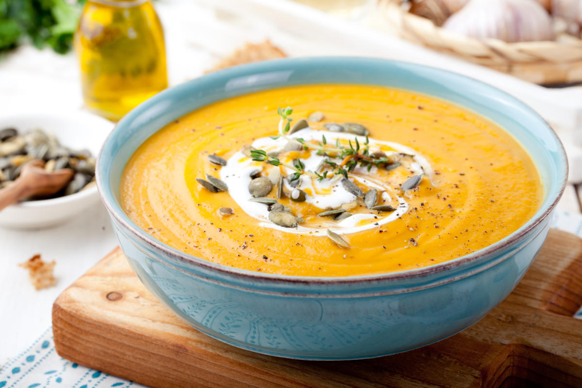 Make butternut squash soup at home this fall with this recipe from The Settlers Inn