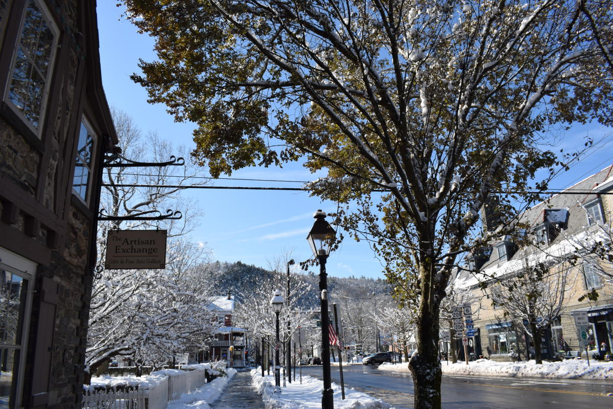 Explore downtown Milford in winter!