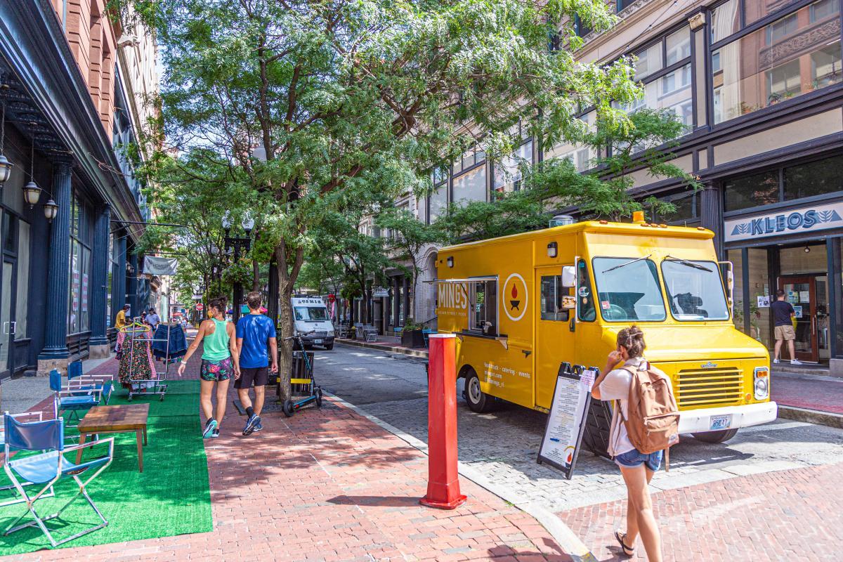 Food Trucks At Open Air Saturdays In Providence, RI