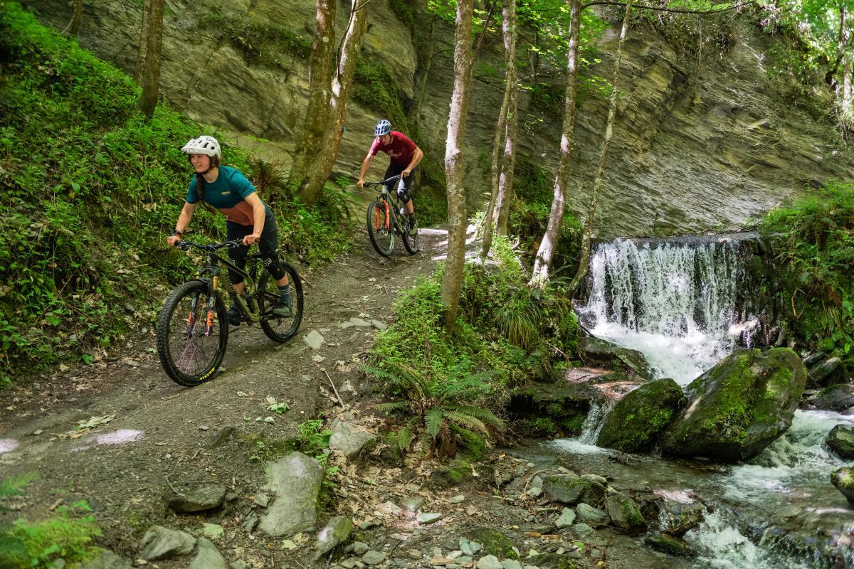 Biking the Bush Creek trail, Arrowtown