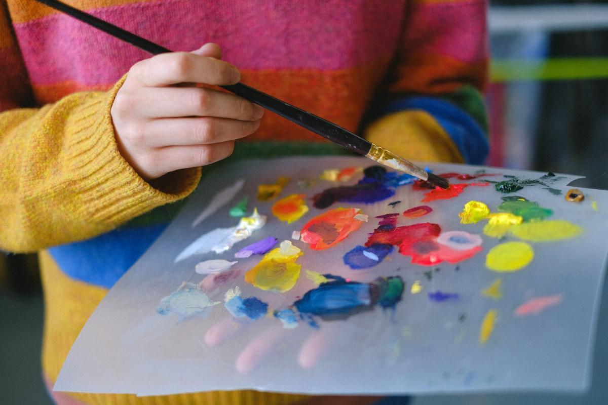 Painter Art Stock Photo