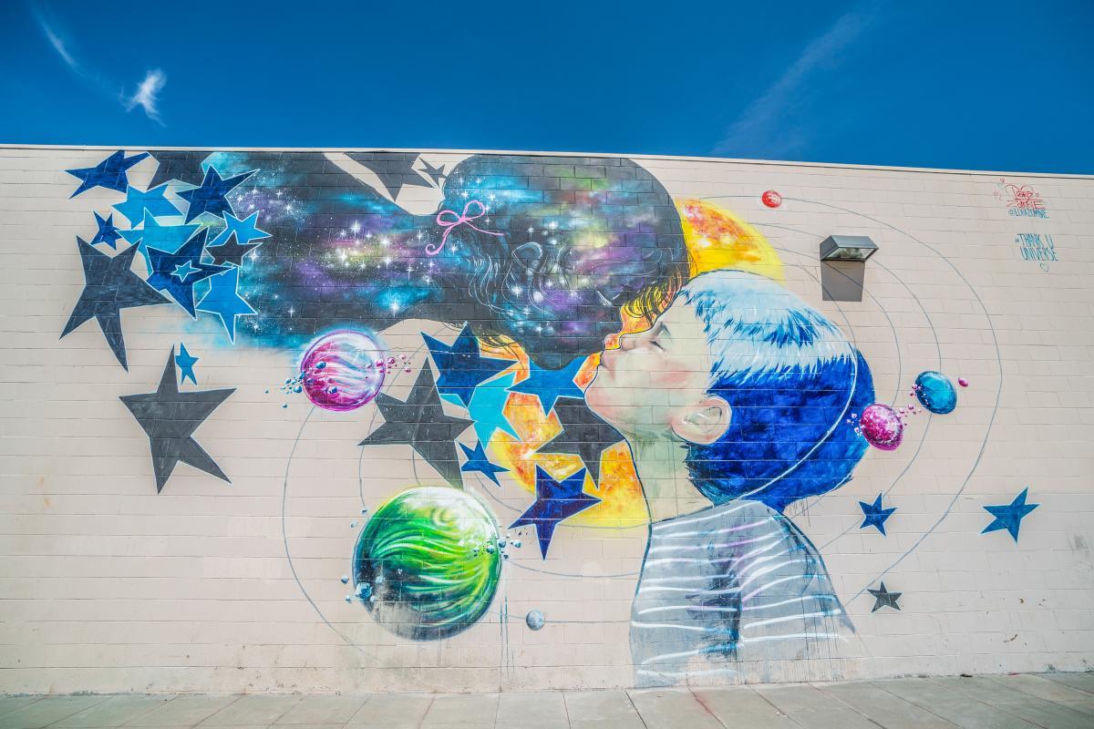 Wide Open Walls mural by Lora Zombie.