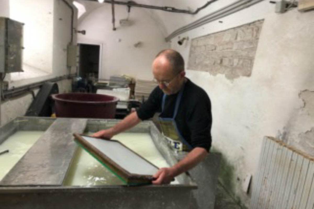 Thomas Leech of Santa Fe working in Fabriano, Italy