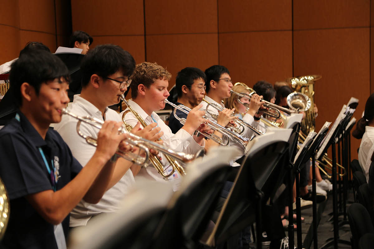 Brass section of the orchestra