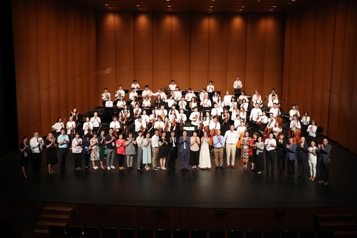 Global Youth Musicians take a bow in the orchestra hall
