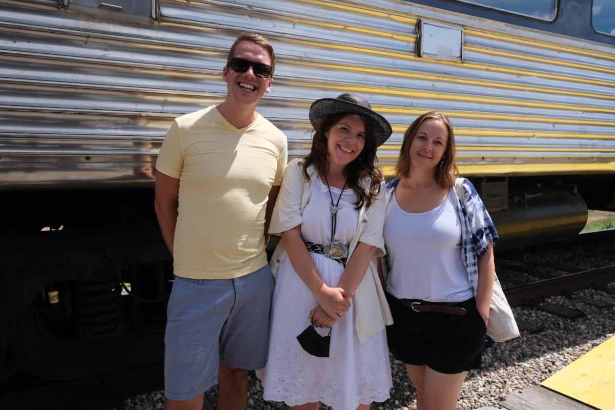Jeff, Darby and Whitney on the train