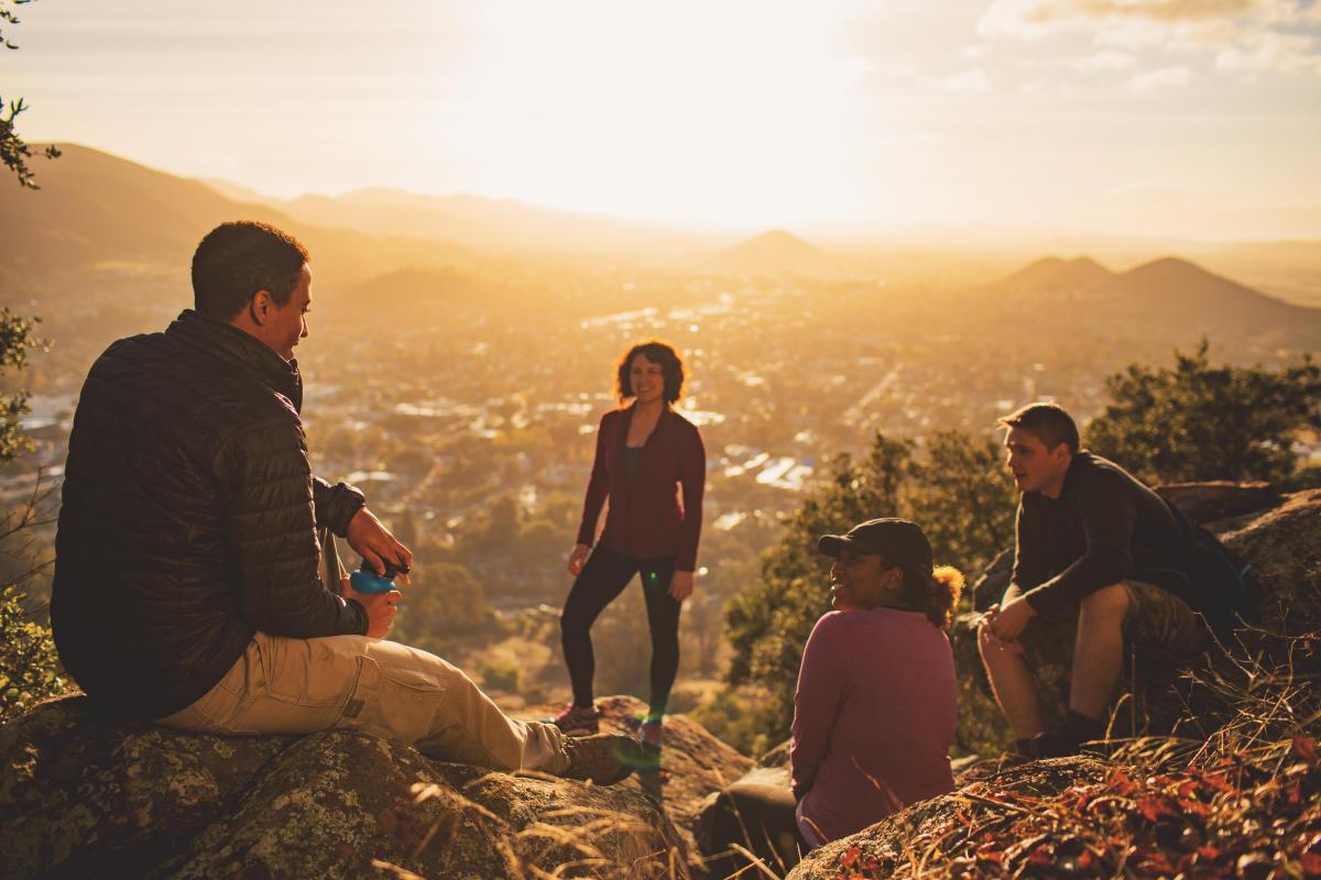 Group of friends hiking in San Luis Obispo