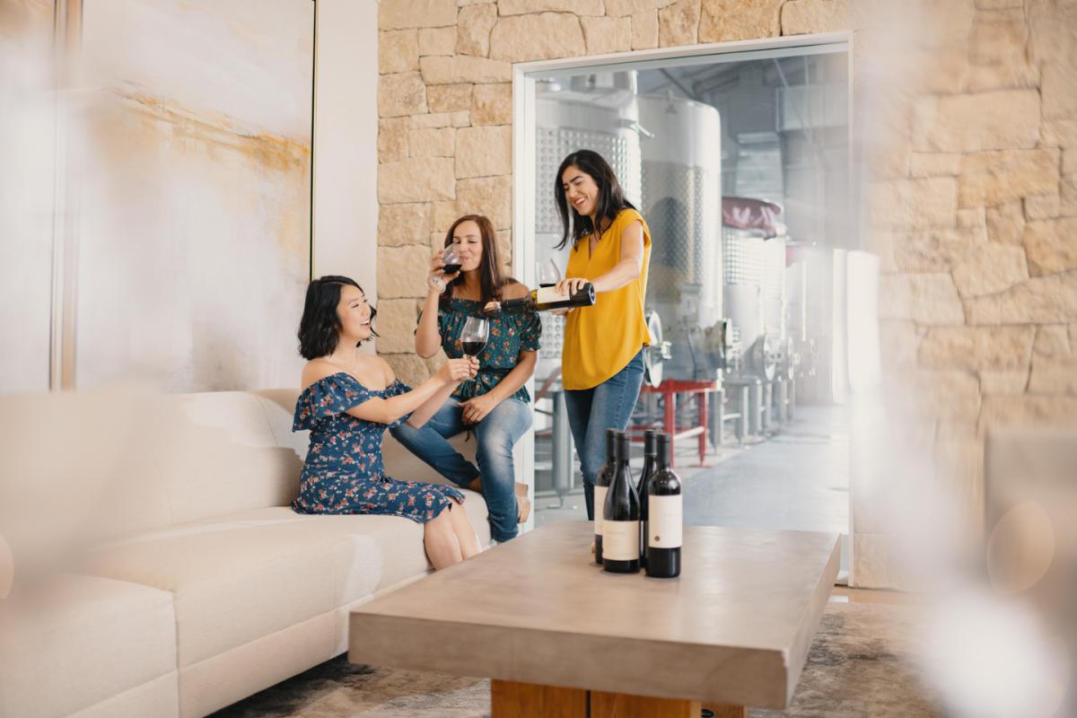 Indoor wine tasting