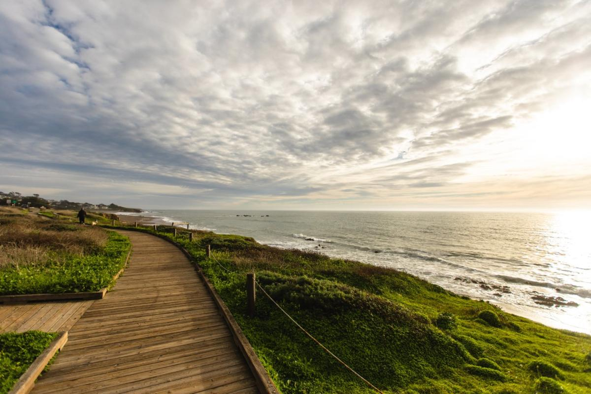 Walkway at Moonstone Beach in Cambria, SLO CAL
