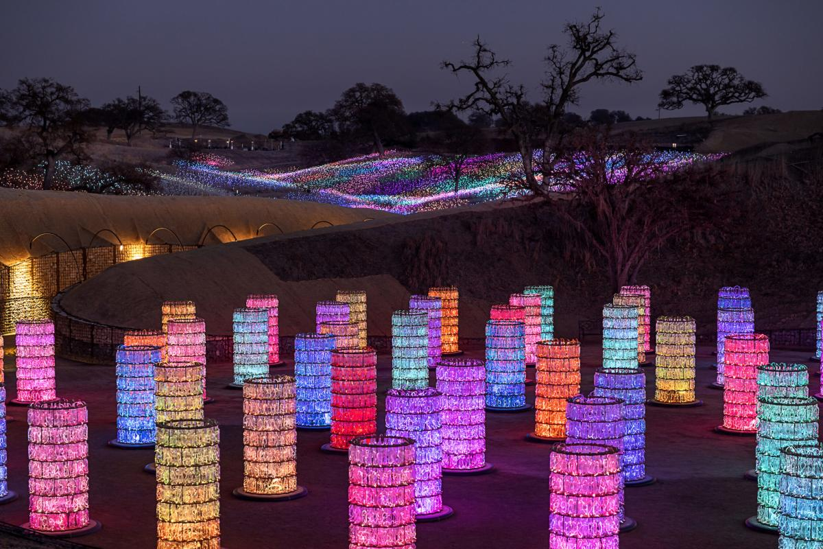 Bruce Munro art installation at Sensorio in San Luis Obispo