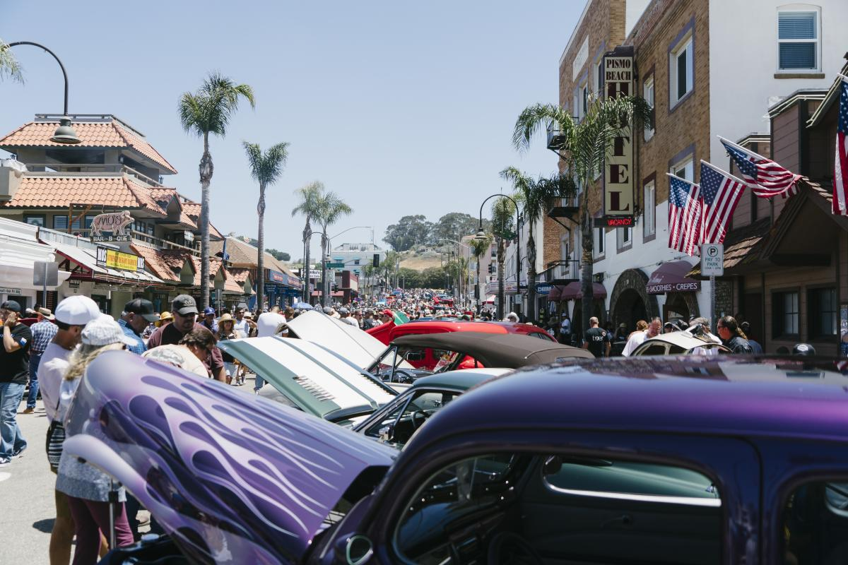 Classic Cars At The Pismo Beach Car Show in SLO CAL