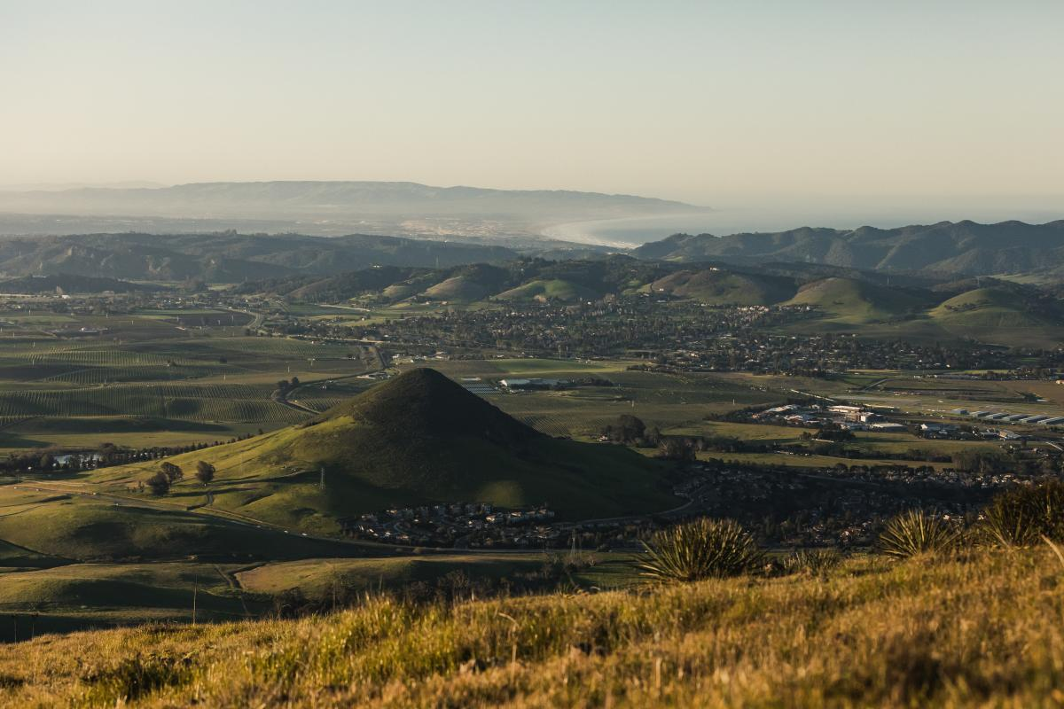 Large Hill In Edna Valley, SLO Coast Wine Region