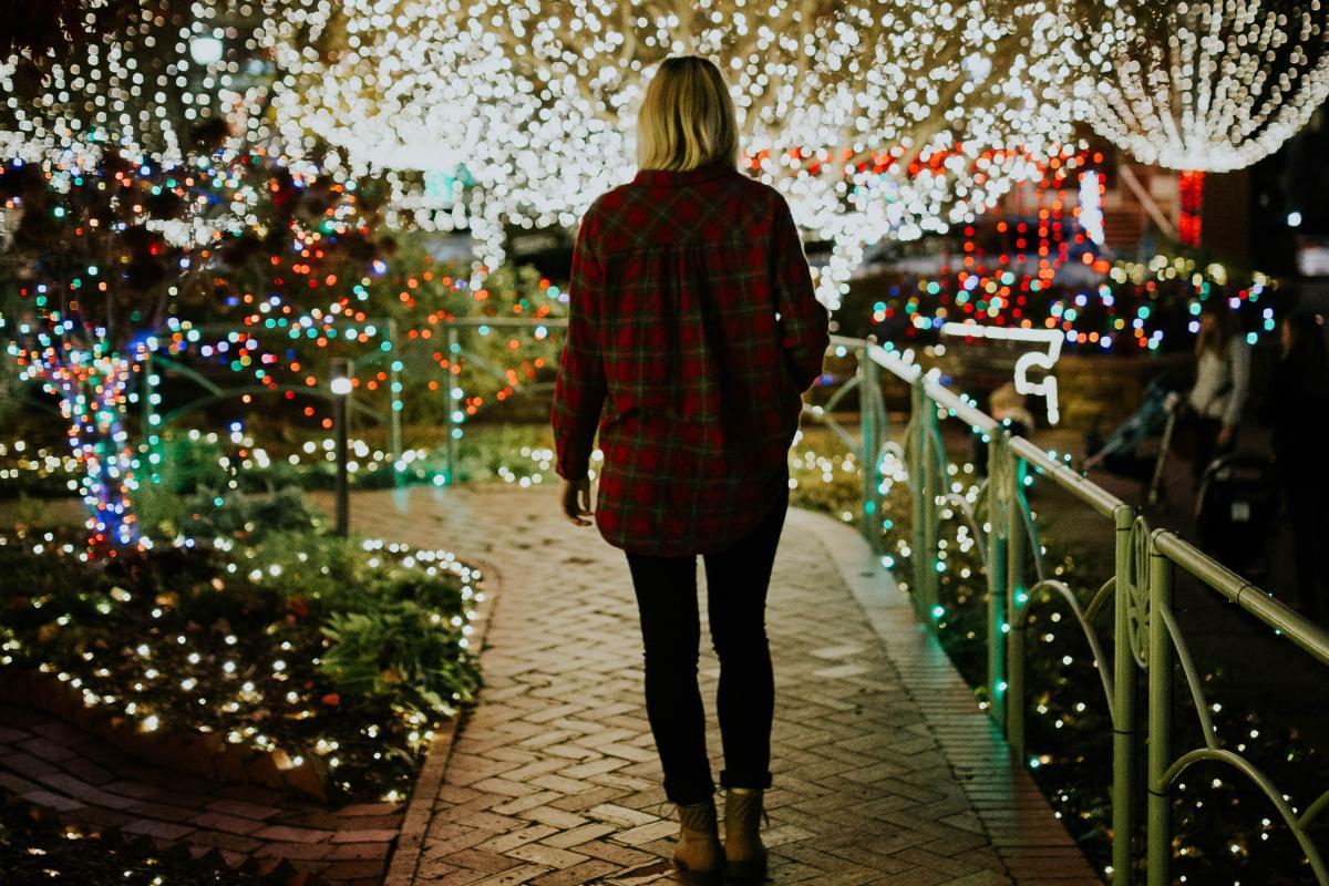 Walking In Christmas Lights