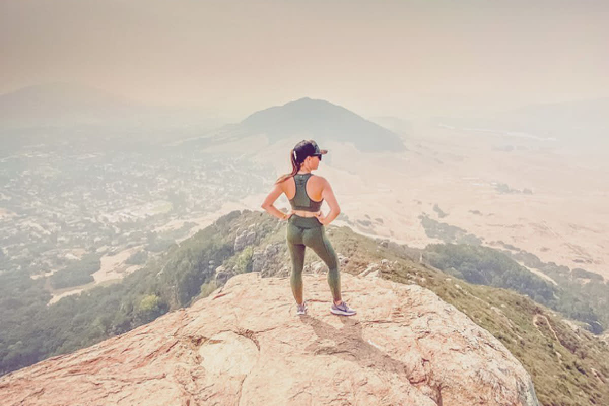 Woman Hiking Bishop's Peak in San Luis Obispo