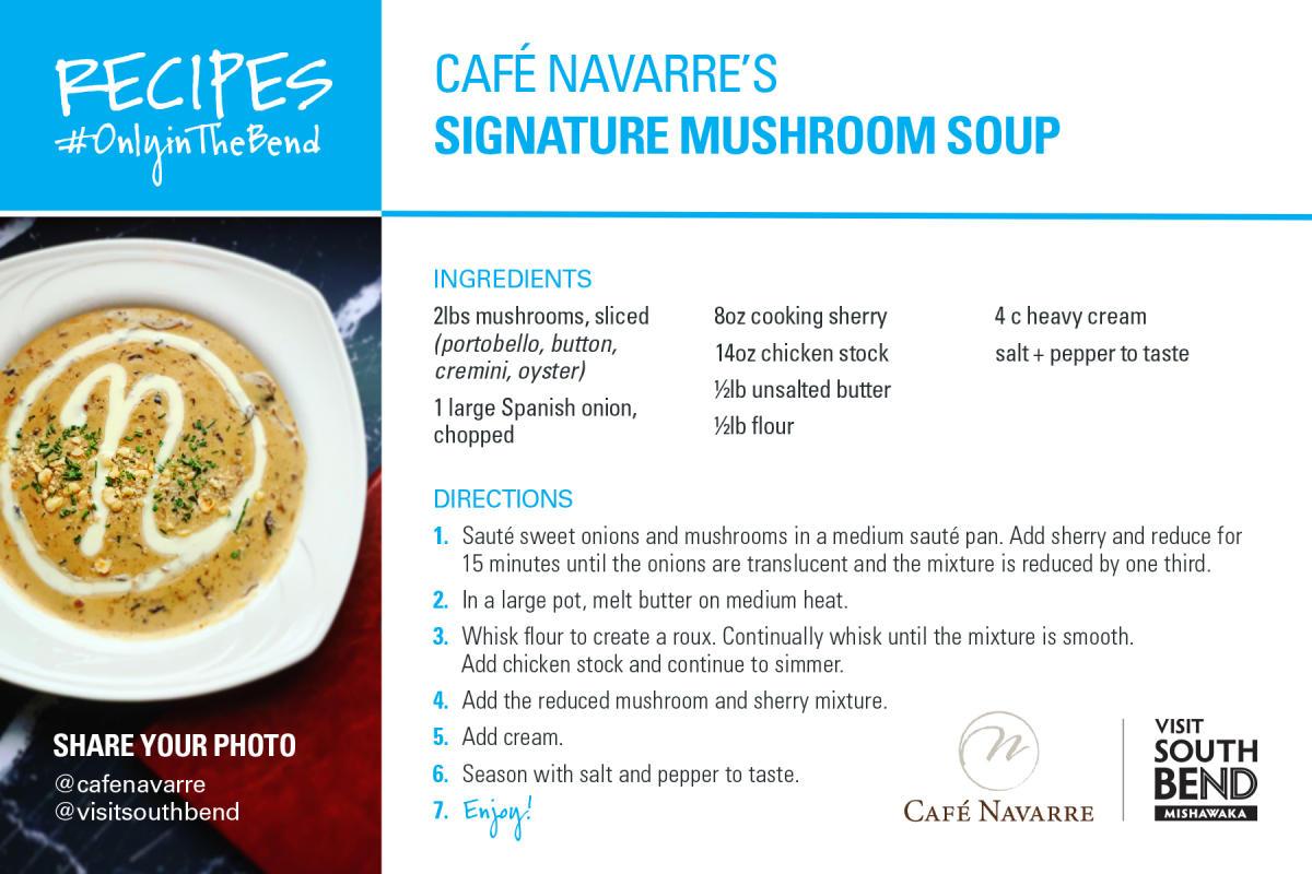 Café Navarre's Signature Mushroom Soup Recipe