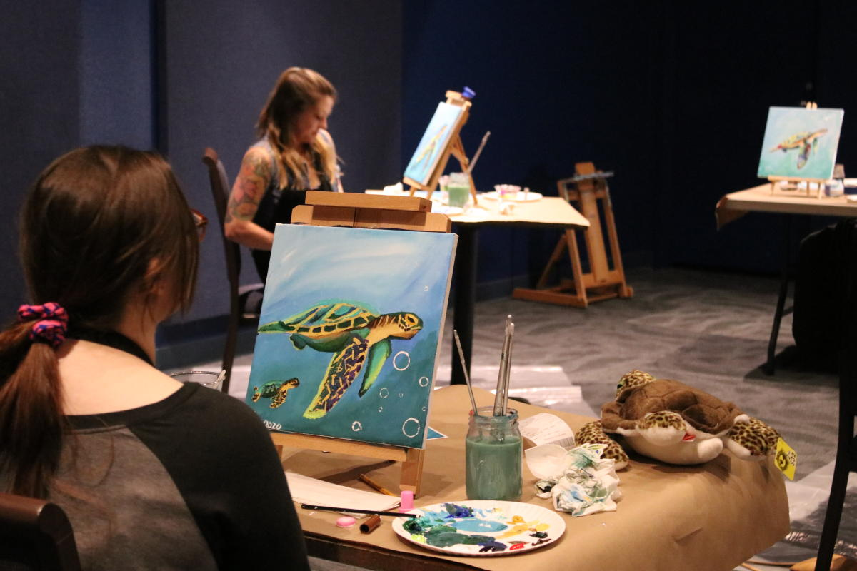 Painting With A Splash at Wonders of Wildlife