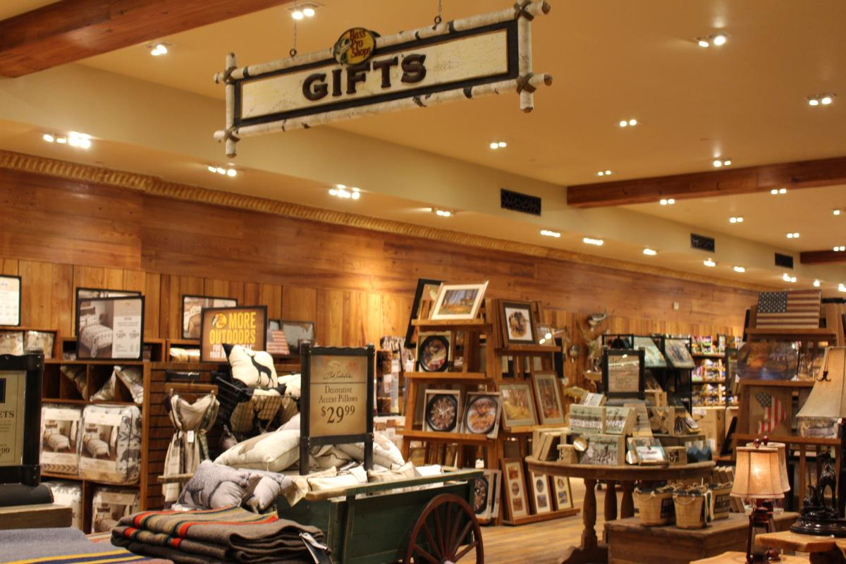 Bass Pro Shop interior