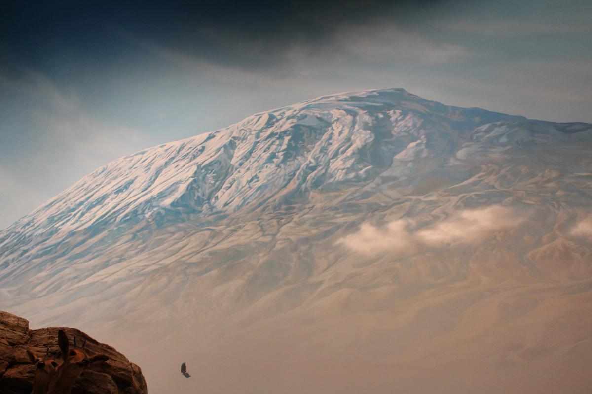 mural of Mount Kilimanjaro