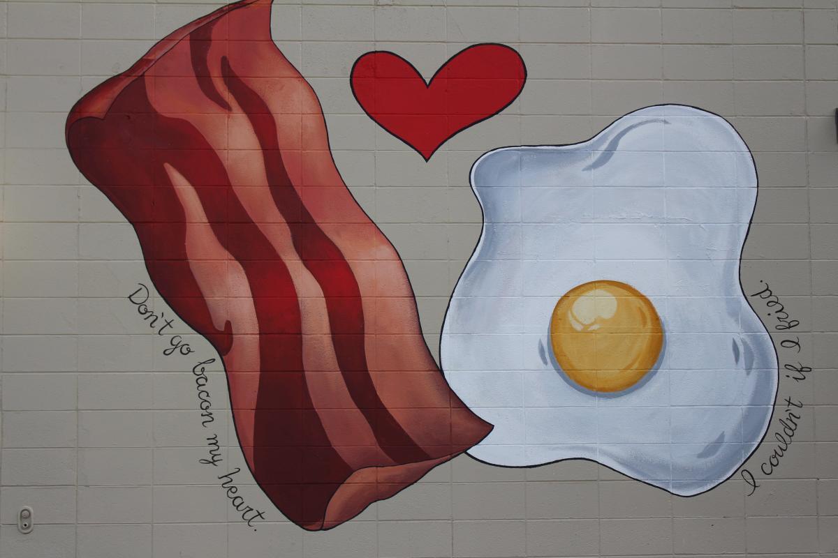 Bacon & Eggs Mural