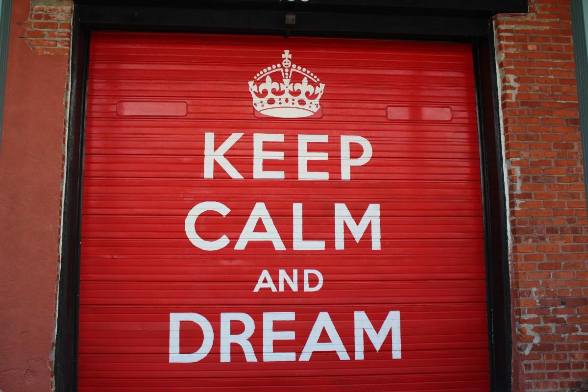 Keep Calm and Dream Mural