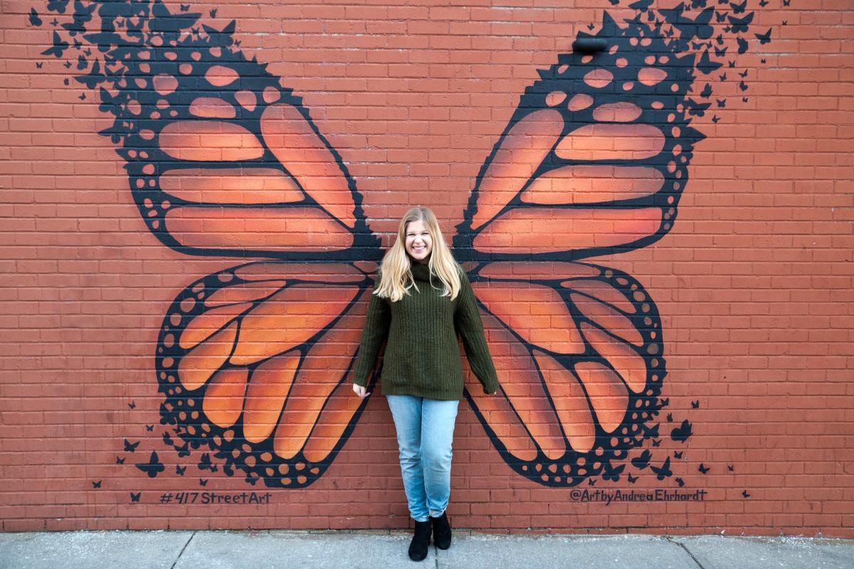 Monarch Butterfly Mural