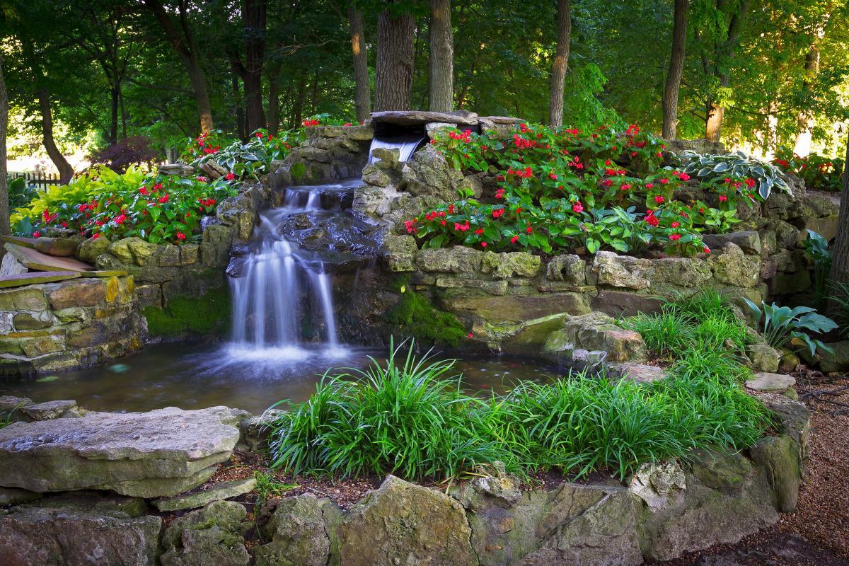 Waterfall at Springfield Botanical Gardens