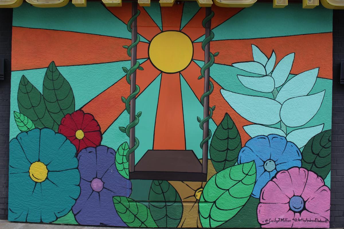 Sun & Swing Mural