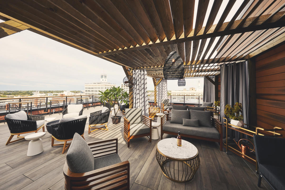 Vantage Rooftop Lounge Patio and Cabana