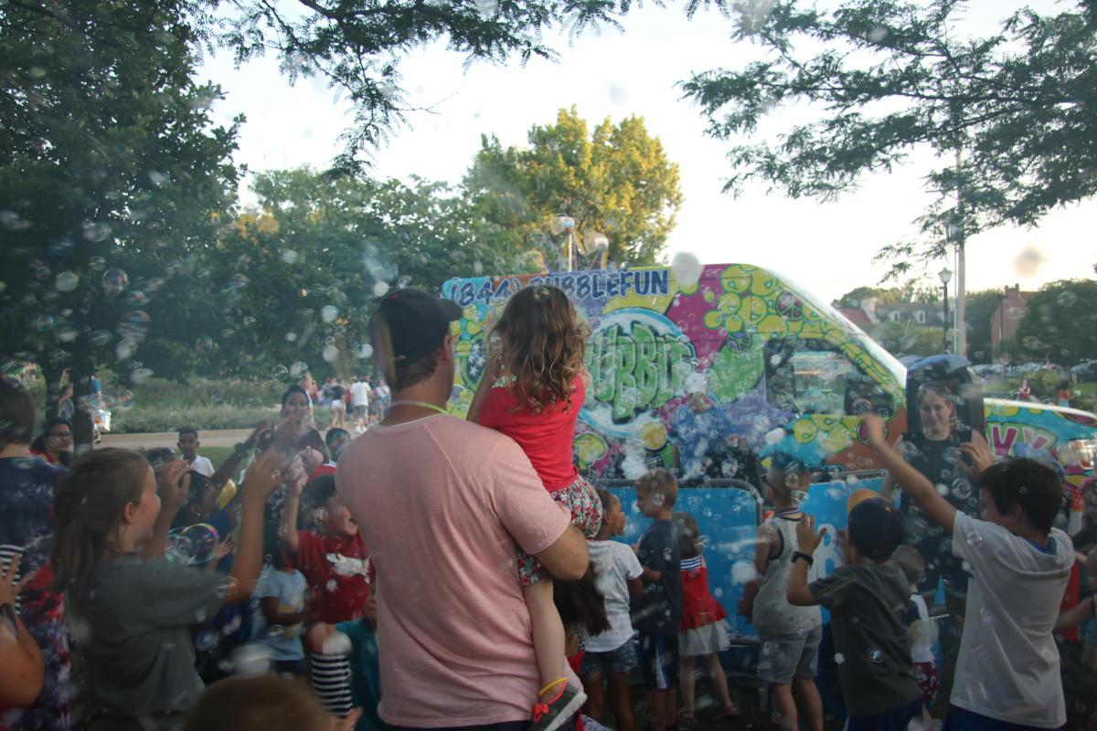 Riverfest Bubble Bus