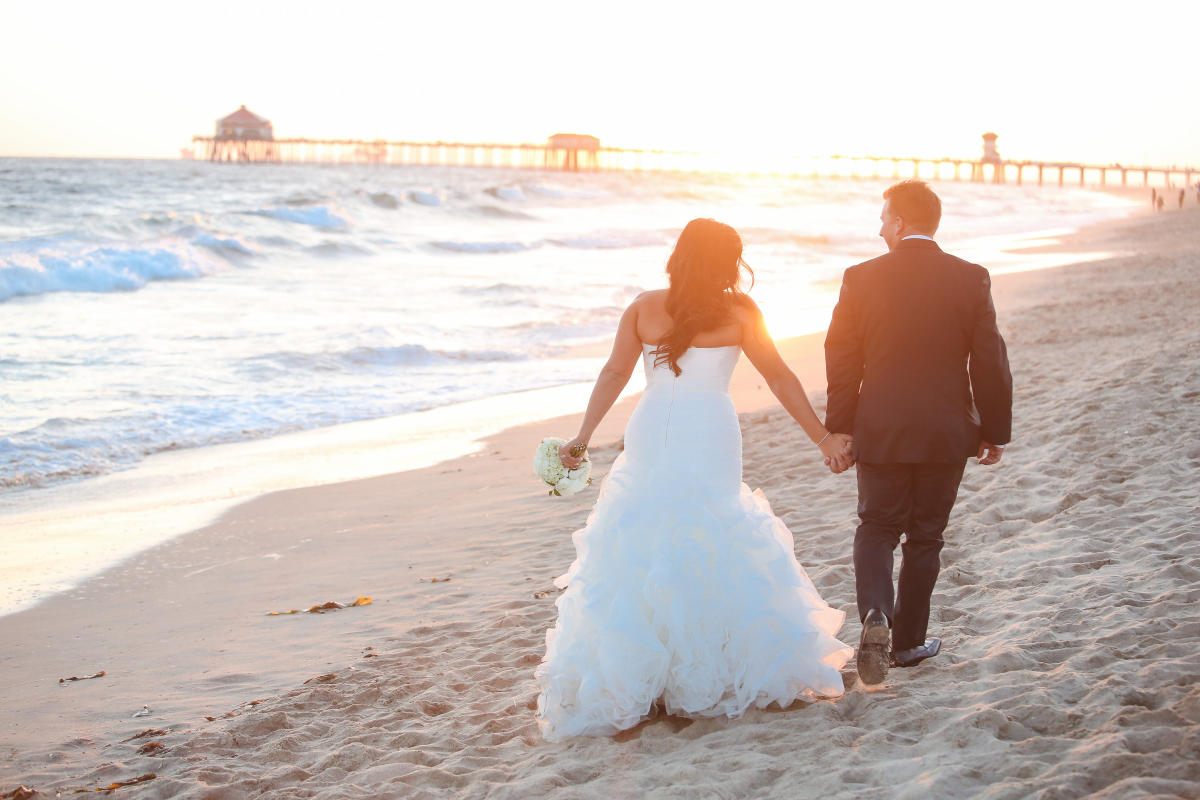 Beach Wedding in Huntington Beach
