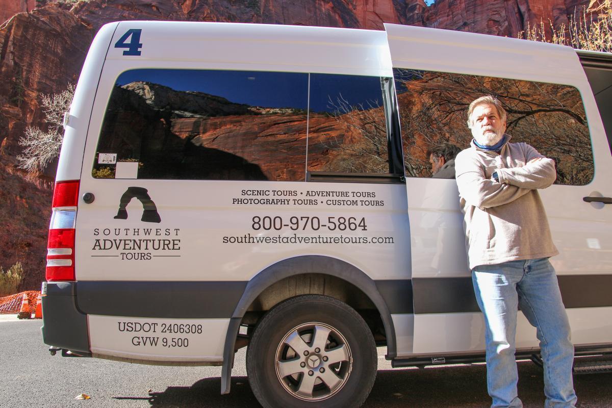 Van with driver