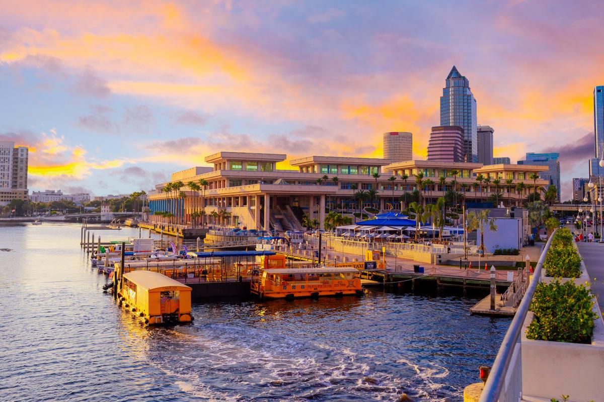 Tampa Convention Center sunset