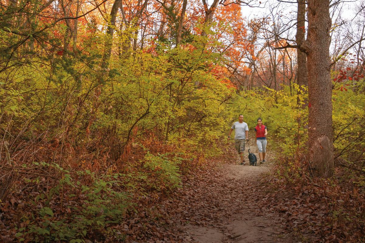 Kaw River State Park - Fall Foliage Hikers   Topeka, KS