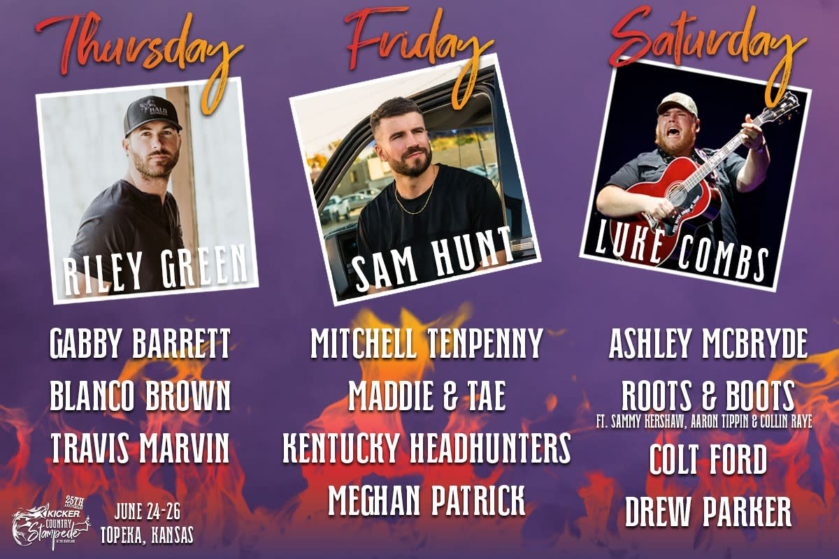 KICKER Country Stampede 2021 Lineup
