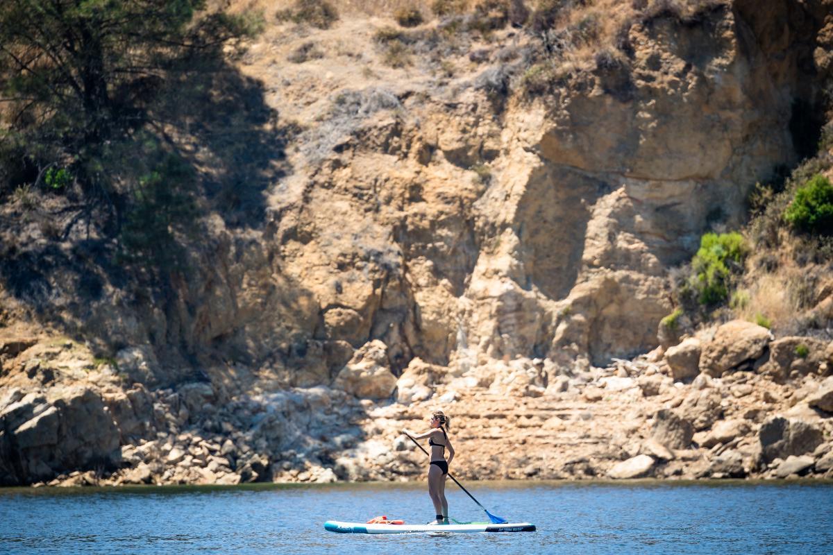 Lake Nacimiento paddle board SUP
